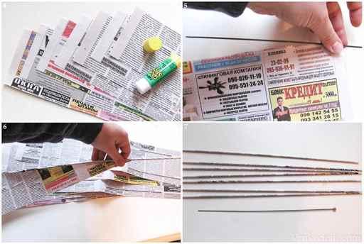 Как из газет сделать поделки 23