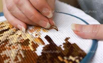 Как заработать на вышивке крестом 200