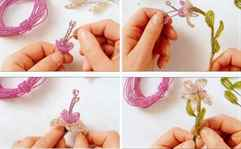 Фуксия из бисера: мастер класс со схемами плетения, фото и видео уроки