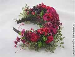 Как сделать искусственные цветы для венка на голову