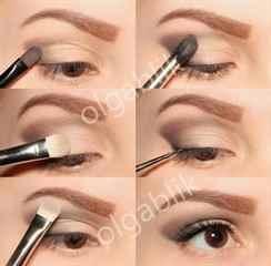 Дневной макияж для глаз с нависающим веком пошаговое