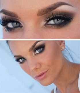 Макияж для серо-голубых глаз сделать самой