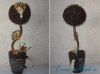 Своими руками денежное дерево из кофейных зерен