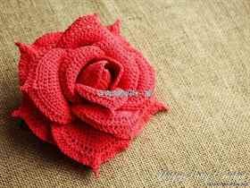 Вязание крючком розы схема видео