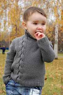 Пуловер для мальчика 2-3 года спицами с рисунком