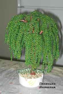 Плетение дерева из бисера своими руками