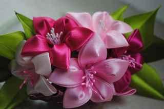 Цветы из атласных лент своими руками мастер класс для начинающих канзаши 58
