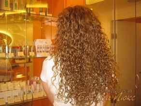 Как сделать химию на длинные волосы фото