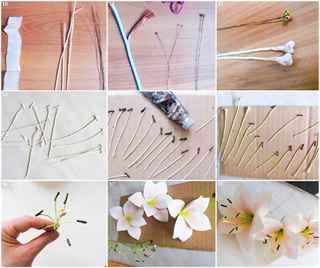 Как сделать тычинки для лилии
