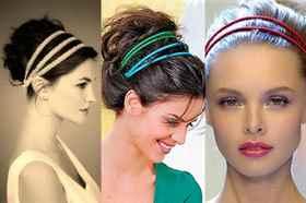 Как сделать широкий ободок для волос