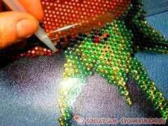 Как делают алмазную вышивку по фото