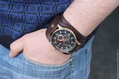 Кожаный браслет часов своими руками