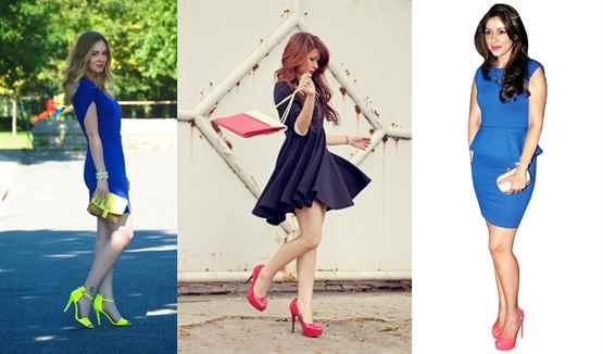 Туфли какого цвета подойдут к голубому платью