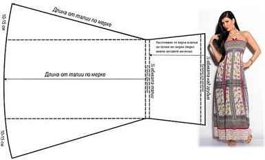 Летний легкий сарафан своими руками выкройка на бретельках