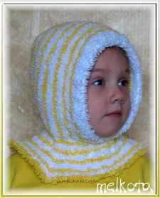 Шапка - капор для девочки - спицами. Обсуждение на