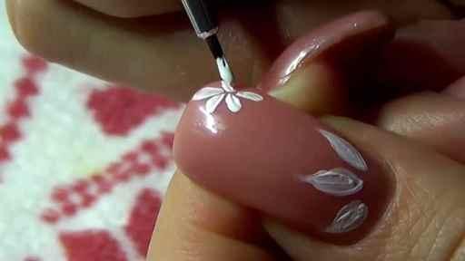 Цветки на ногтях в домашних условиях 638
