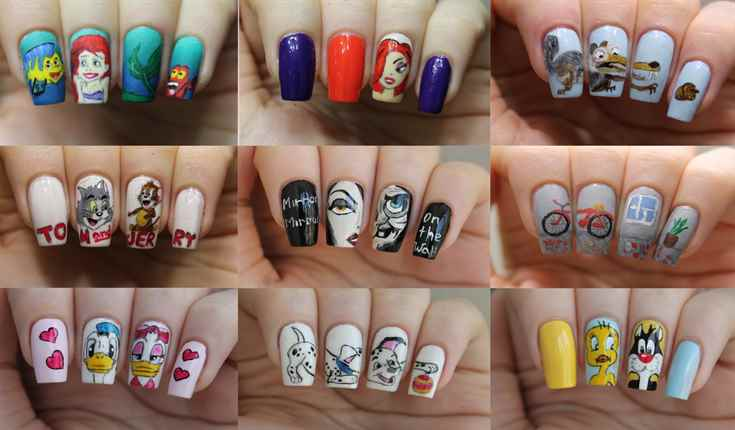 Как рисовать на ногтях краской