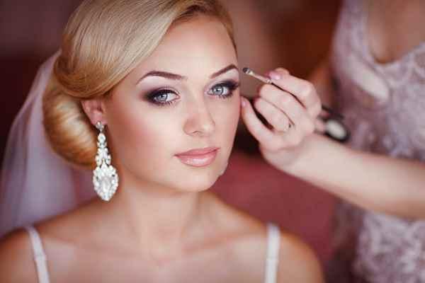 Не яркий макияж на свадьбу фото