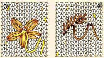 Вышивка на вязаном изделии 66
