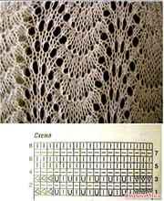 Узор павлиний хвост спицами: схема и описание ( 151) 4