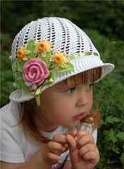 Головные летние уборы для девочек своими руками