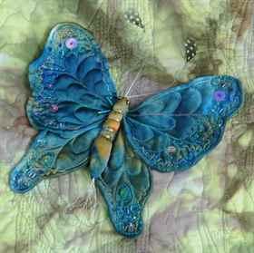 Бабочками из ткани своими руками 55