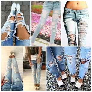 Очень рваные джинсы своими руками 76