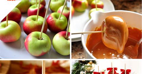 Рецепт яблок в карамели на палочке в домашних условиях 444