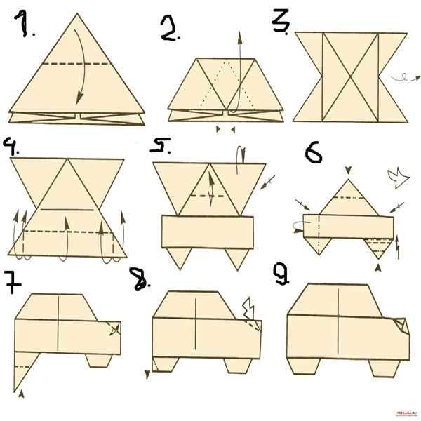 Как сделать из бумаги машину своими руками схемы