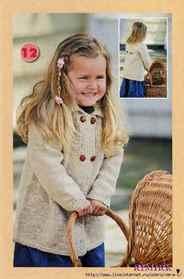 вязаное пальто для девочки спицами со схемой на 1 2 3 4 года и
