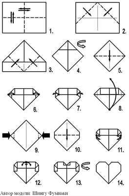 Оригами из бумаги открытки сердечко, крутые картинки для