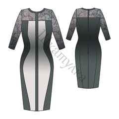 a5095d7f4 Выкройка платья футляр своими руками: для полных, 46-54 размера и фото