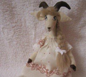 Выкройка козы тильда