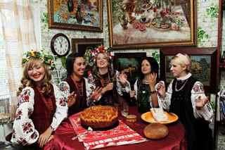 Женщина, картинки с поздравлениями в украинском стиле