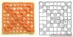 ажурные квадраты крючком схемы и описание фото