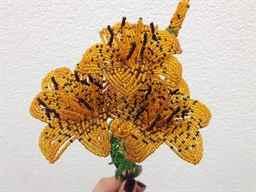 Тигровая лилия из бисера
