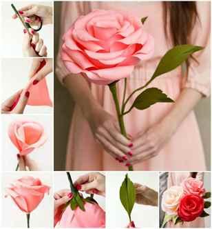 Картинки как делать цветы из гофрированной бумаги, открытка для
