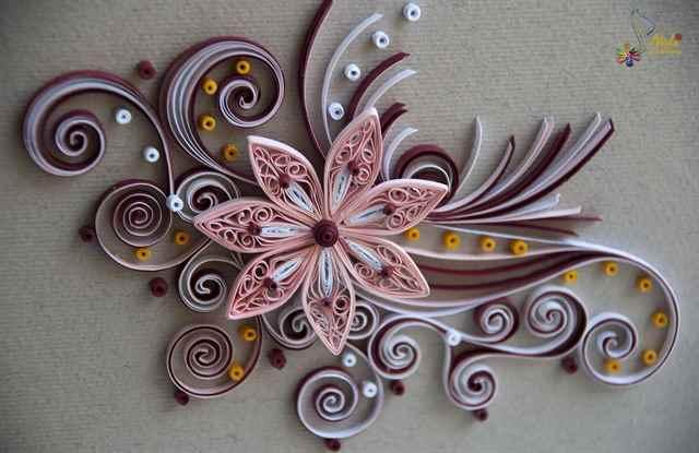 Уток, квиллинг картинки цветы для начинающих