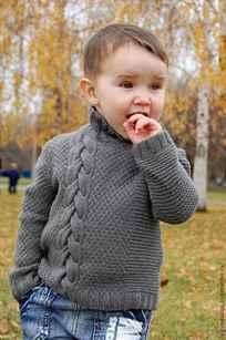 свитер для мальчика спицами вязаные модели на 1 2 года 5 6 лет