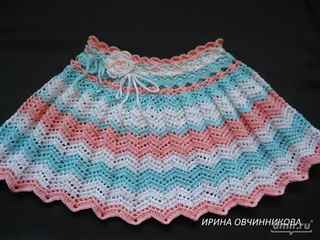 детские юбки крючком схемы вязания с подробным объяснением и видео
