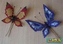 Бабочка из бисера схема плетения с пошаговым фото для начинающих схема