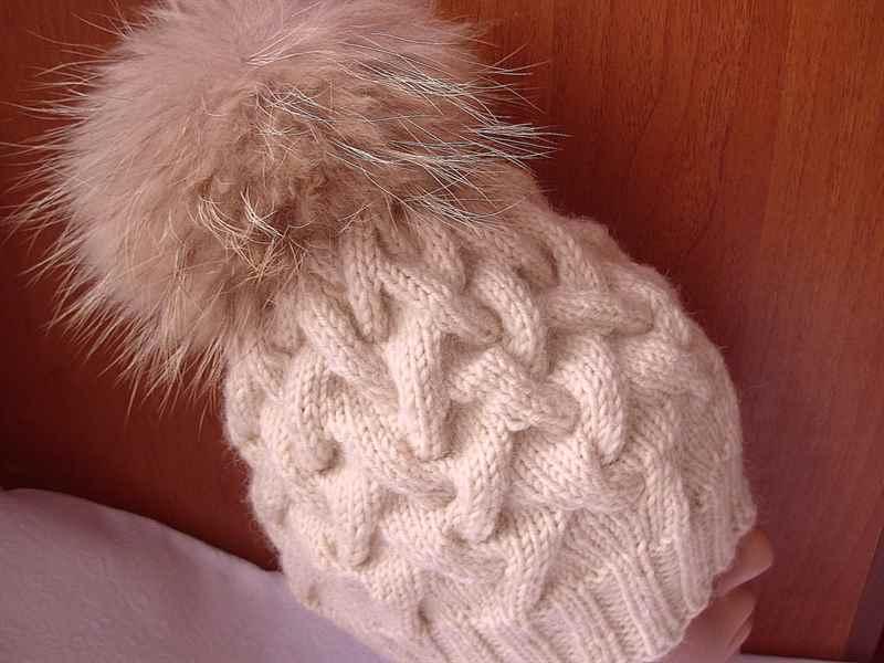 шапка косами схема с описанием вязания крючком по кругу фото