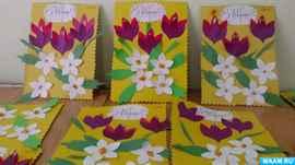 Открытка для, открытки на 8 марта средняя группа в детском саду
