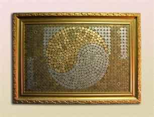 Картина из монет своими руками