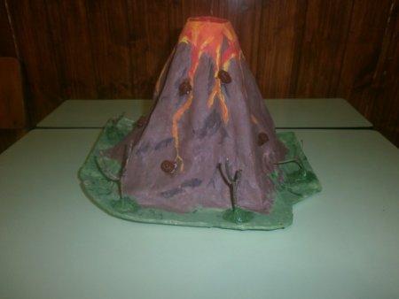 Макет вулкана своими руками